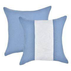 Almofada Azul Faixa Branca