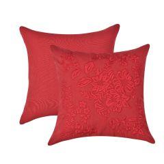 Almofada Floral Bordada Red