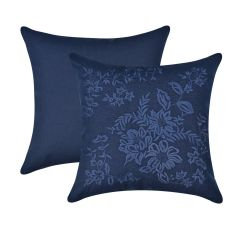 Almofada Floral Bordada Blue
