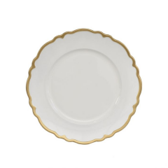 Sousplat Branco Borda Dourada