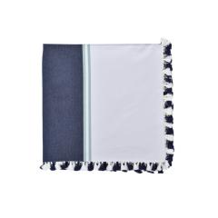 Toalha De Mesa Retangular Lista Azul