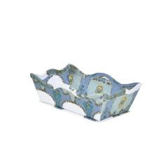 Caixa Decorativa Wave Ikat Azul